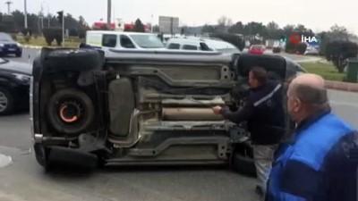 sili -  Takla atan araçtaki aileyi emniyet kemeri korudu
