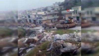 gesi -  - TSK konvoyu, İdlib'in Cabal el Zaviye bölgesinde görüntülendi