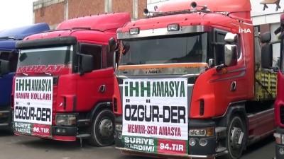 teroristler -  Amasya'dan İdlib'e 13 tırlık yardım