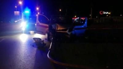 Erzincan'da kaza yaptıktan sonra olay yerinden kaçmaya çalışan sürücü polise yakalandı
