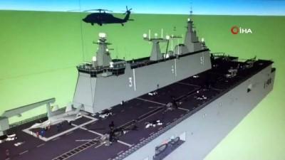 Türkiye'nin ilk yerli savaş uçak gemisi liman test hazırlıkları için cepe alındı