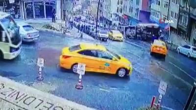 sahit -  Gaziosmanpaşa'da dehşet anları kamerada...İBB'nin asfalt döküm kamyonu yokuştan geri geri kayarak devrildi