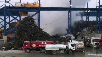 hurdalık deposundaki yangın 15 saat sonra kontrol altına alındı