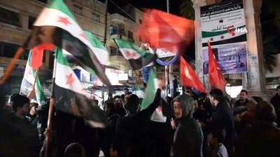 uluslararasi -  - İdlib'de Suriyelilerden uluslararası aktörlere çağrı - Halktan rejim karşıtı protesto