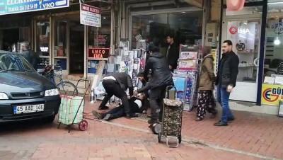 Manisa'da cinayet anı ve polisle çatışma güvenlik kamerasına yansıdı