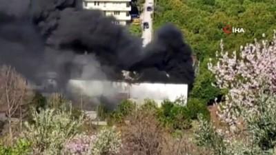 Alanya'da atölye yangını