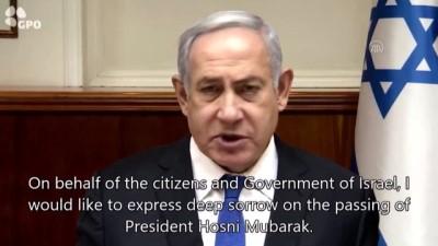 hukumet - Netanyahu'dan Mübarek için taziye mesajı - KUDÜS