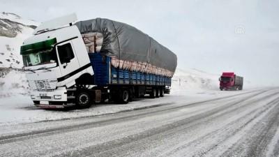 Tendürek Geçidi'nde ulaşıma kar ve tipi engeli - AĞRI Video