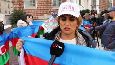 - Hocalı Katliamı Ermenistan'ın Washington Büyükelçiliği önünde protesto edildi