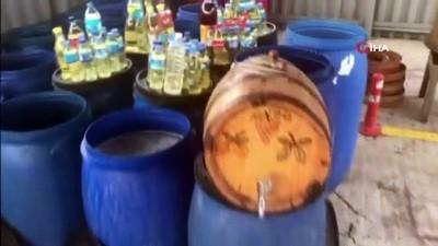 sahte icki -  Tekirdağ'da 3 ton sahte içki ele geçirildi