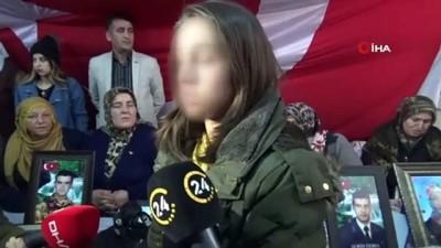 genc kiz -  PKK'dan kaçarak teslim olan genç kız, evlat nöbetindeki aileleri ziyaret etti