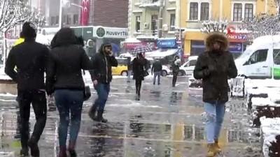 alabalik -  Giresun'da kar yağışı etkili oluyor