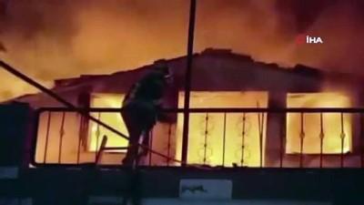 Safranbolu'da çıkan yangında bir ev alevlere teslim oldu