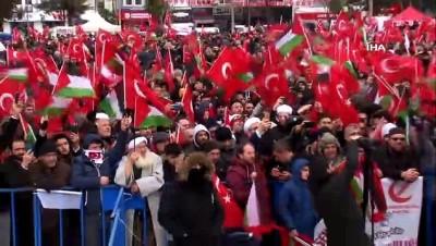 """Yeniden Refah Partisi Genel Başkanı Fatih Erbakan: """"Bugün burada Mescid-i Aksa'nın, Kudüs'ün, Filistin'in sahipsiz olmadığını haykırmak için toplandık"""""""