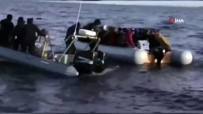Sahil Güvenlik Komutanlığı göçmenleri denizde yalnız bırakmıyor