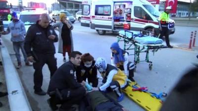 - Başkentte bir otomobil takla attı: 1 yaralı