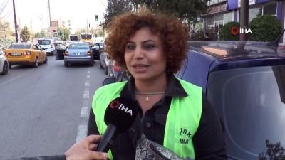 meyra -  Gaziantep'te parkomat kadınlar iş başında
