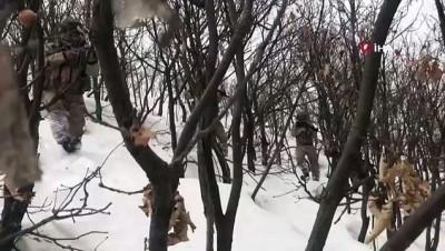 Terör örgütünün kış yapılanması için gizlediği malzemeler ele geçirilip imha edildi