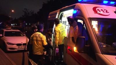 Alkollü sürücü park halindeki lüks otomobile çarptı: 1 yaralı