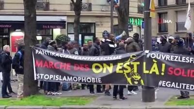 - Paris'teki düzensiz sığınmacılardan Yunanistan'daki mültecilere destek