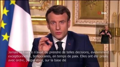 - Fransa'da 15 gün sokağa çıkma yasağı ilan edildi - Fransa Cumhurbaşkanı Macron: - 'Sağlık savaşındayız'