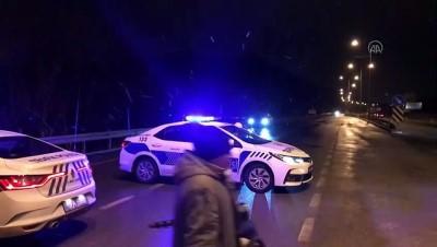 Samsun-Ankara kara yolunda kar yağışı ulaşımı aksatıyor - ÇORUM