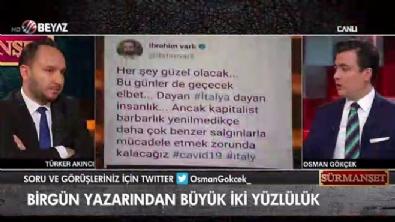 Birgün yazarının iki yüzlülüğü Sürmanşet'te ifşa oldu