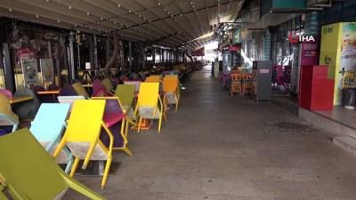 Koronavirüs tedbirleri nedeniyle Denizli'de sokaklar bomboş kaldı
