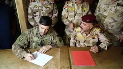 askeri toren - ABD askerlerinin çekildiği Irak'taki Kaim Üssü'nde devir teslim töreni düzenlendi - BAĞDAT