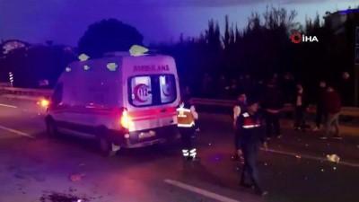 gorgu tanigi -  Alkollü sürücünün çarptığı motosiklette bulunan karı koca ağır yaralandı