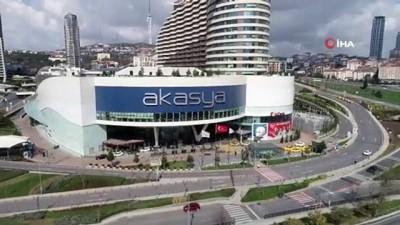 supermarket -  Korona virüs tedbirleri kapsamında kapatılan Akasya AVM havadan görüntülendi