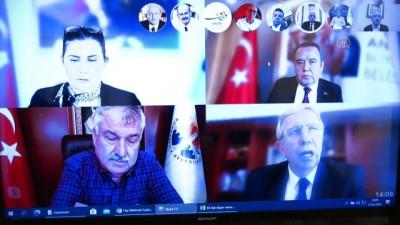 Kılıçdaroğlu, CHP'li büyükşehir belediye başkanlarıyla 'Kovid-19' toplantısı yaptı - ANKARA