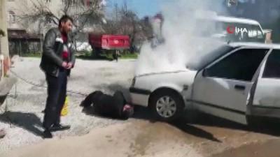 LPG'li otomobil yandı