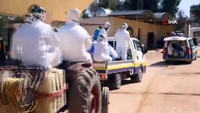 idlib -  - İdlib'de Korona Virüse Karşı Dezenfekte Başladı