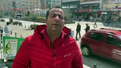 İstanbul'da polisten megafonla korona virüse karşı evde kalın çağrısı