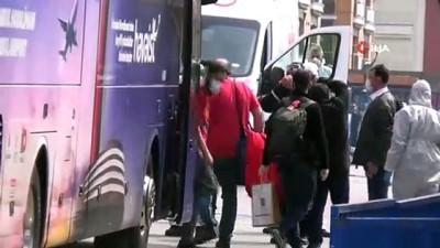 ucus yasagi -  Karantina için 3 otobüs daha Tekirdağ'a geldi