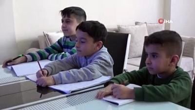 Çocuklar EBA ile ilk derslerini işledi