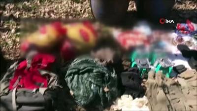 Diyarbakır'da teröristlere ait mühimmat ve yaşam malzemesi ele geçirildi