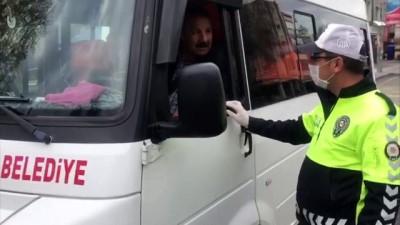 Adıyaman'da şehir içi minibüsleri denetlendi