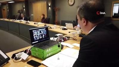 - Koronavirüs nedeniyle telekonferanslı senato toplantısı
