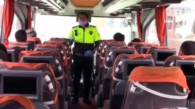 sehirlerarasi otobus -  Polis, korona virüs tedbirleri kapsamında otobüsleri denetledi