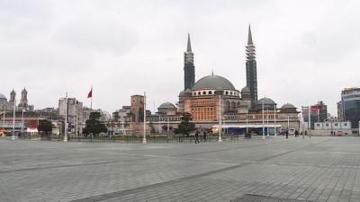 Taksim ve İstiklal Caddesi boş kaldı - İSTANBUL