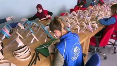 genclik merkezi - Gençlik Merkezlerinde ''Korumalı Maske'' üretimi (1) - ANKARA