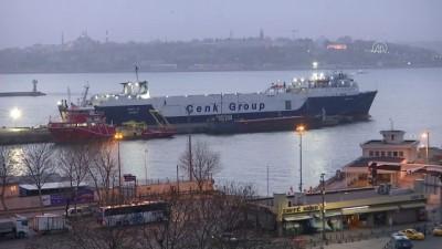 Koronavirüs karantina taahhüdünü kabul eden Avrupa'daki tır şoförleri deniz yoluyla yurda dönüyor - İSTANBUL