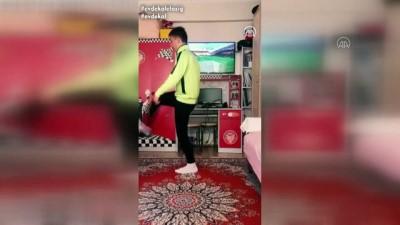 milli futbolcu - Milli futbolcu Merih Demiral'ın destek verdiği 'Evde kal Elazığ' klibi - ELAZIĞ