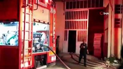 Değirmen makineleri bulunan depoda yangın