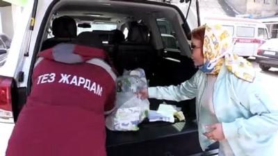 olaganustu hal - Kırgızistan'da 'İyilik Karargahı' gönüllüleri Kovid-19 mağdurları için çalışıyor - BİŞKEK
