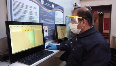 uc boyutlu yazici -  Memur-Sen'den sağlıkçılara 50 bin adet 'Yüz Siper' maskesi