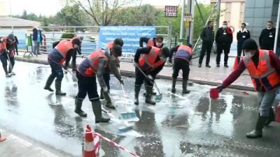 cocuk hastaliklari -  Cadde ve sokaklarda 'korona' temizliği