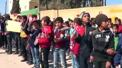 hain saldiri -  - İdlib şehitleri için Suriye'de miting düzenlendi
